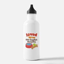 Old English Sheepdog Pet Gift Water Bottle
