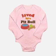Pit Bull Dog Gift Long Sleeve Infant Bodysuit