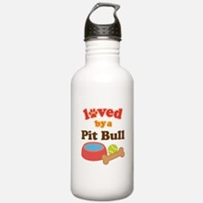 Pit Bull Dog Gift Water Bottle