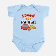 Pit Bull Dog Gift Infant Bodysuit
