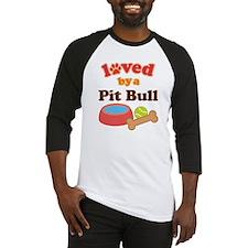 Pit Bull Dog Gift Baseball Jersey
