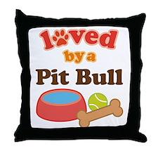 Pit Bull Dog Gift Throw Pillow
