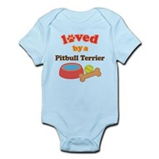 Pitbull Terrier Dog Gift Infant Bodysuit