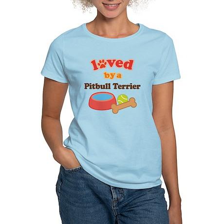 Pitbull Terrier Dog Gift Women's Light T-Shirt