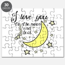 I love you to the moon and back Puzzle