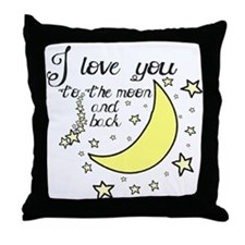 I love you to the moon and back Throw Pillow