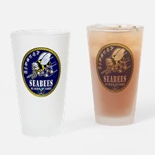 US NAVY Seabees Roped Rates Drinking Glass