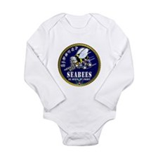 US NAVY Seabees Roped Rates Long Sleeve Infant Bod