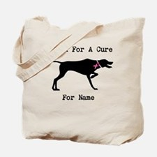 Pointer Personalizable I Bark For A Cure Tote Bag