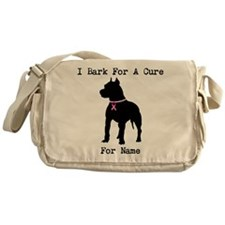 Pitbull Personalizable I Bark For A Cure Messenger