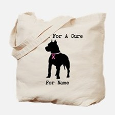 Pitbull Personalizable I Bark For A Cure Tote Bag
