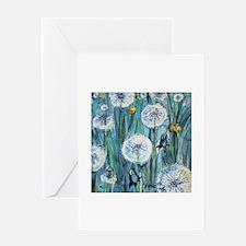 Dandelions Greeting Cards