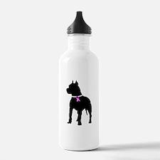 Pitbull Terrier Breast Cancer Water Bottle