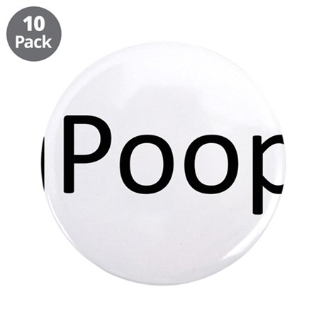 "iPoop.png 3.5"" Button (10 pack)"