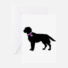 Labrador Retriever Breast Can Greeting Cards (Pk o