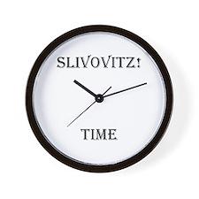 Slivovitz Time Wall Clock