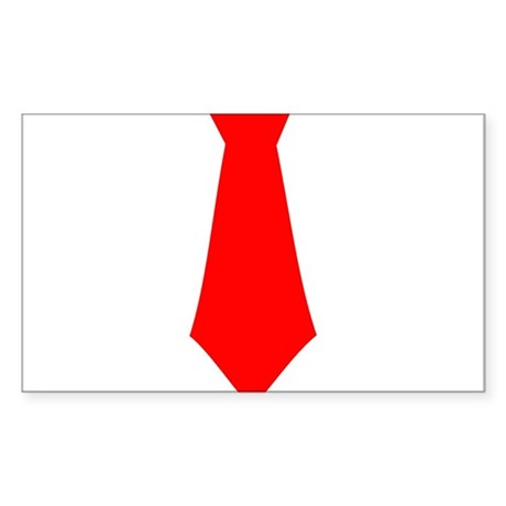 Red Tie.png Sticker (Rectangle)