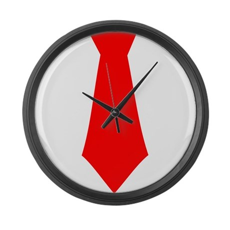 Red Tie.png Large Wall Clock