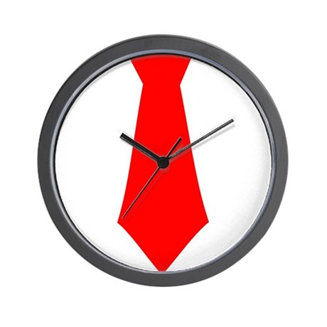 Red Tie.png Wall Clock