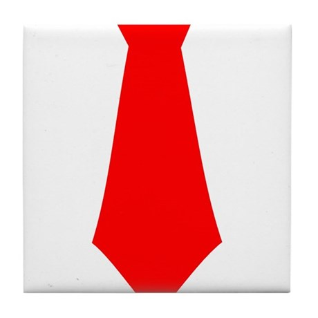 Red Tie.png Tile Coaster