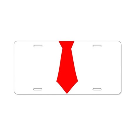 Red Tie.png Aluminum License Plate