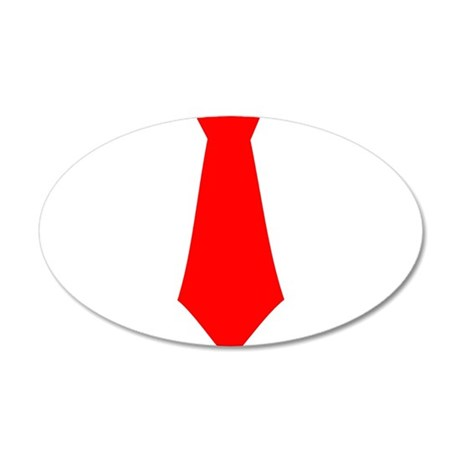 Red Tie.png 38.5 x 24.5 Oval Wall Peel