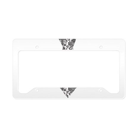 Damask Tie.png License Plate Holder