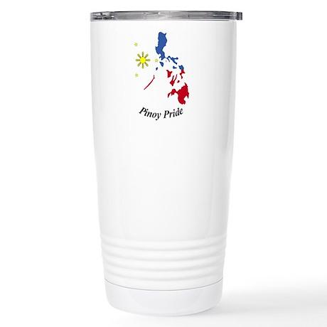 Pinoy Pride Map Stainless Steel Travel Mug