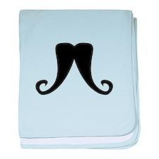 Mustache2.png baby blanket