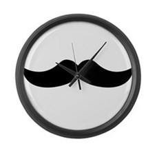 Mustache3.png Large Wall Clock