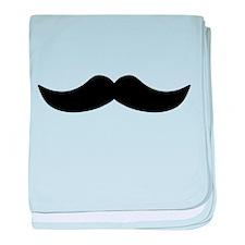 Mustache3.png baby blanket