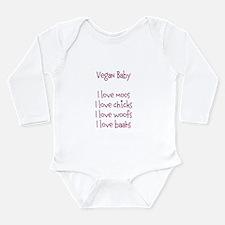 Cool Vegan baby Long Sleeve Infant Bodysuit