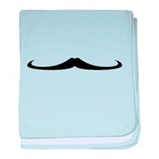 Mustache4.png baby blanket