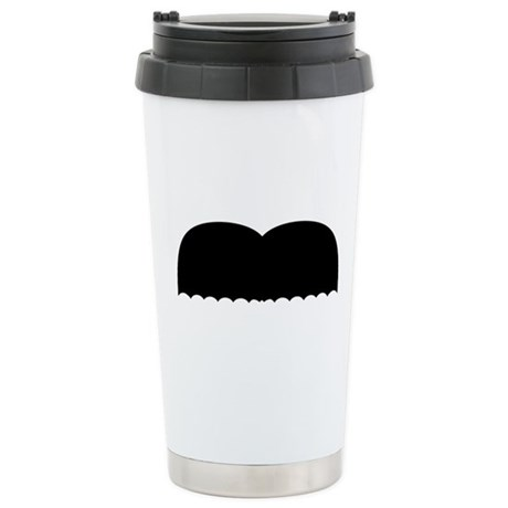 Mustache5.png Stainless Steel Travel Mug