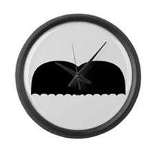 Mustache5.png Large Wall Clock