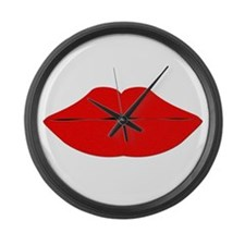 lips.png Large Wall Clock