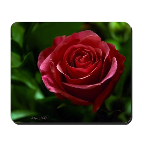 Stunning Red Rose Mousepad