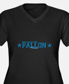 NASfallon2.png Women's Plus Size V-Neck Dark T-Shi