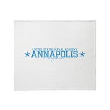 USNAannapolis.png Throw Blanket