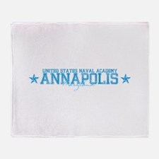 USNAannapolis.png Throw Blanket