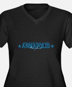 USNAannapolis.png Women's Plus Size V-Neck Dark T-