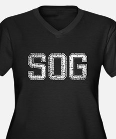 SOG, Vintage, Women's Plus Size V-Neck Dark T-Shir