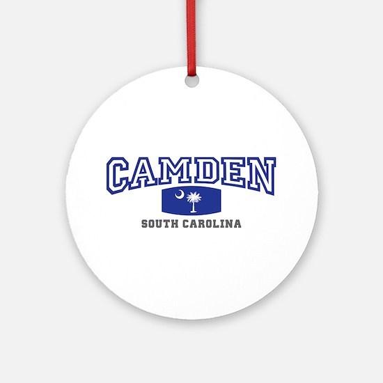 Camden South Carolina, SC, Palmetto State Flag Orn