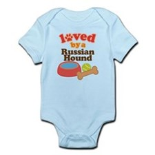 Russian Hound Dog Gift Infant Bodysuit