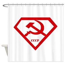 USSR Super Man Shower Curtain