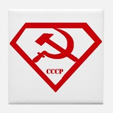 USSR Super Man Tile Coaster