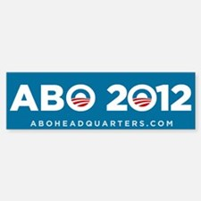Anyone But Obama 2012 Sticker (Bumper)