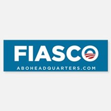 Obama Fiasco Sticker (Bumper)