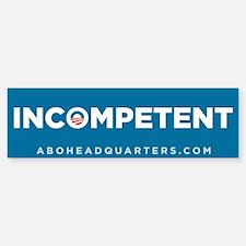Obama Incompetent Sticker (Bumper)