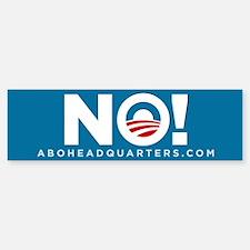 Obama NO! Sticker (Bumper)